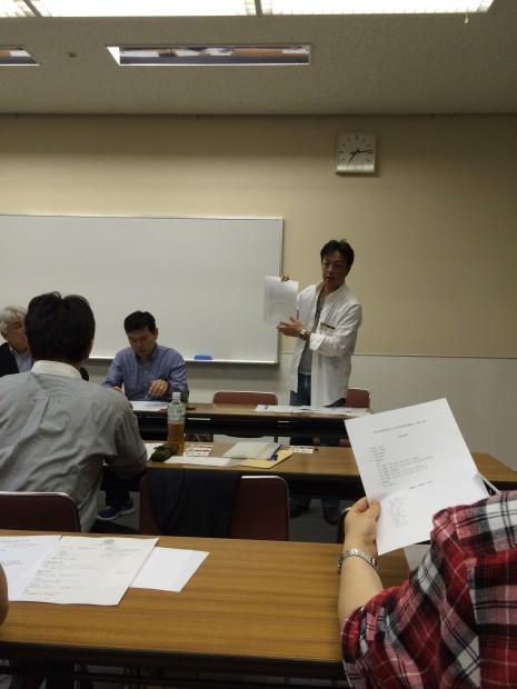 奥原祝賀会部会長の報告