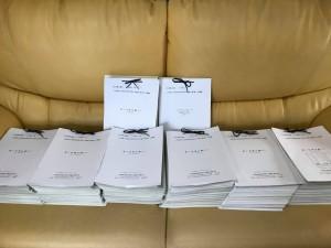 集計した署名簿 32,966筆